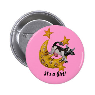 Cow Jumped Over the Moon button  (Girl)