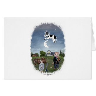 COW JUMPED OVER THE MOON CARD