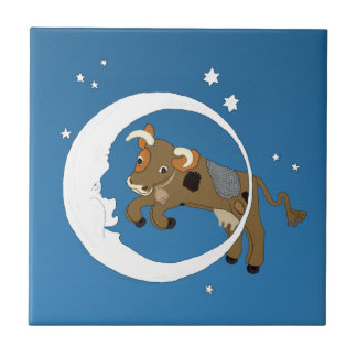 Cow Jumped Over the Moon Ceramic Tile