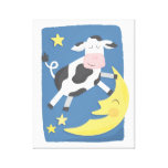 Cow Jumped Over the Moon Children's Canvas Art