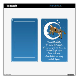 Cow Jumped Over the Moon Decals For Kindle Fire