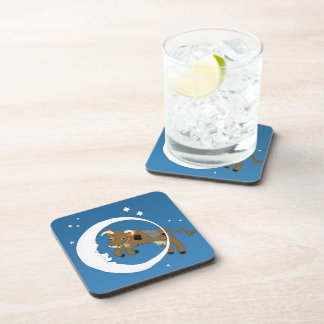 Cow Jumped Over the Moon Drink Coaster