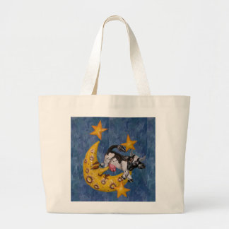 Cow jumped over the Moon Large Tote Bag