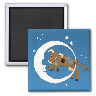 Cow Jumped Over the Moon Refrigerator Magnet