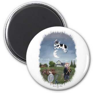COW JUMPED OVER THE MOON MAGNET