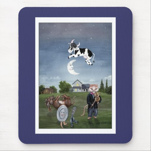 Cow Jumped Over the Moon Mouse Pad