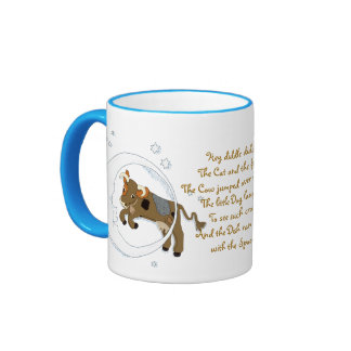 Cow Jumped Over the Moon Ringer Coffee Mug