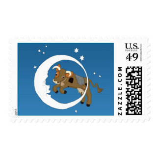 Cow Jumped Over the Moon Postage