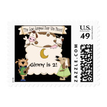 Cow Jumped Over the Moon Postage Stamps
