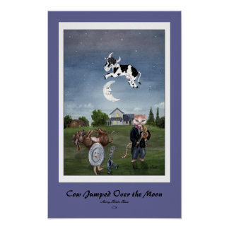Cow Jumped Over the Moon Print - Customized