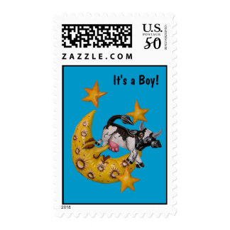 Cow Jumped Over the Moon Stamp (B)
