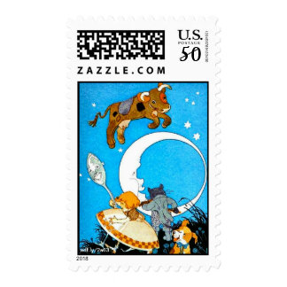 Cow Jumped Over the Moon U.S. Postage Stamps