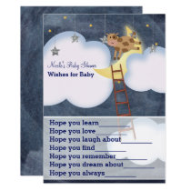 Cow Jumping Over Moon Wishes for Baby Shower Game Invitation