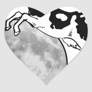 Cow Jumping over the Moon Heart Sticker