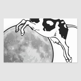 Cow Jumping over the Moon Rectangular Sticker