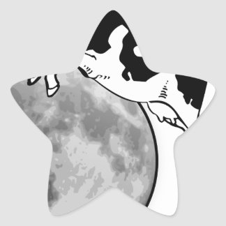 Cow Jumping over the Moon Star Sticker