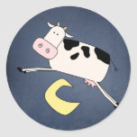 Cow Jumping Over the Moon Stickers