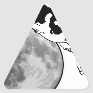 Cow Jumping over the Moon Triangle Sticker