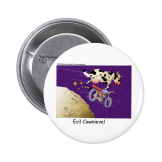 Cow Jumps Moon Funny Gifts & Collectibles Pinback Button