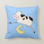 Cow Jumps Over Moon Throw Pillows