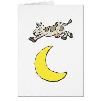 Cow Jumps Over the Moon Card