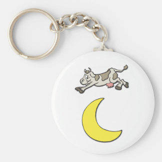 Cow Jumps Over the Moon Keychain