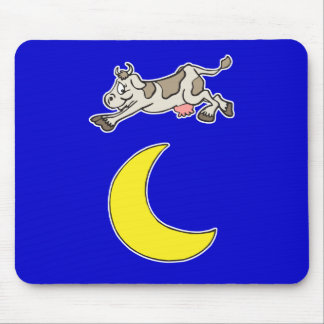 Cow Jumps Over the Moon Mouse Pad