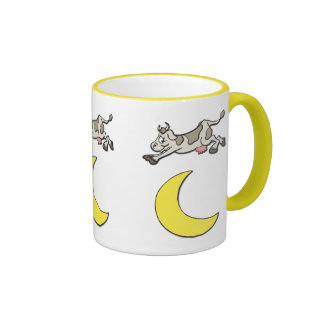 Cow Jumps Over the Moon Ringer Mug