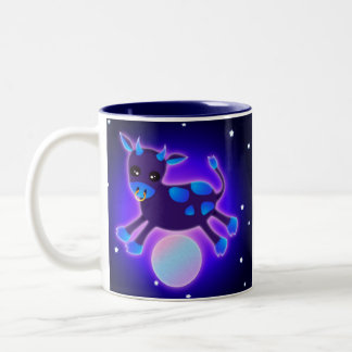 Cow Jumps Over the Moon Two-Tone Coffee Mug