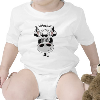 Cow Just Add Name Baby Bodysuit