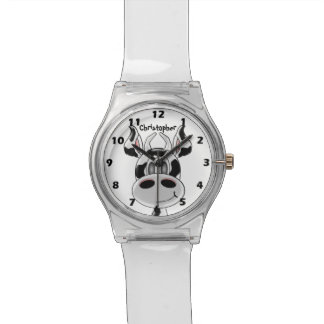 Cow Just Add Name Wrist Watch