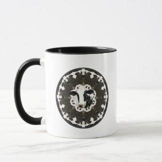 Cow kaleidoscope mug