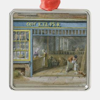 Cow Keeper, 1825 Metal Ornament