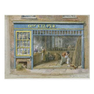Cow Keeper, 1825 Postcard