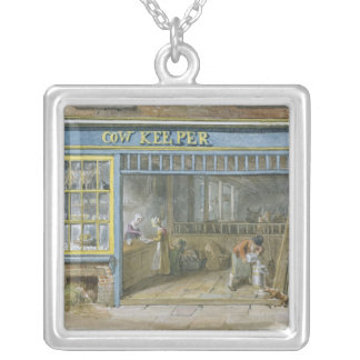 Cow Keeper, 1825 Silver Plated Necklace