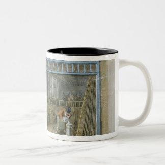Cow Keeper, 1825 Two-Tone Coffee Mug