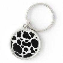 Cow key keychain