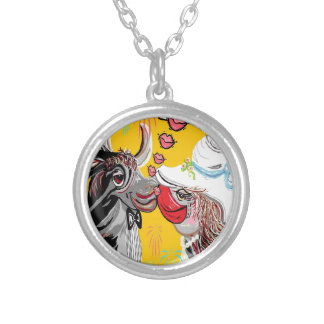 COW KISS SILVER PLATED NECKLACE