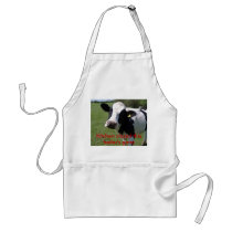 cow, Kitchen closed this heifer's gone Adult Apron