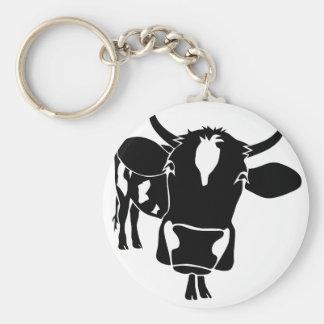 cow kuh cattle fleckvieh ordeñas cowboy farmer llavero redondo tipo pin