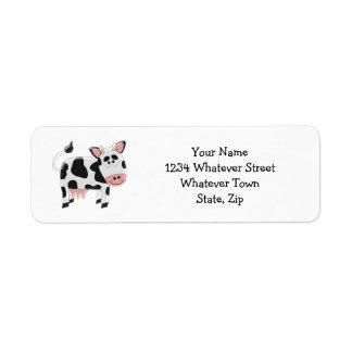 Cow Custom Return Address Label