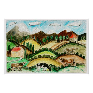 Cow Land Posters