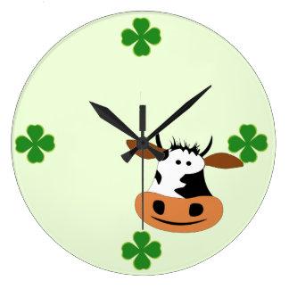 Cow Large Clock
