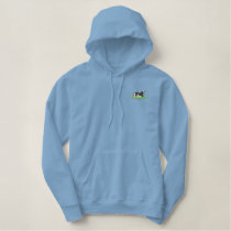 Cow Laying Down Embroidered Hoodie