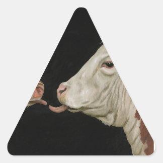 Cow Lick Triangle Sticker