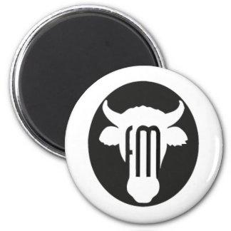 Cow logo magnet