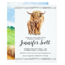 Cow Love Baby Shower Invitation