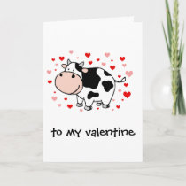 Cow Love Holiday Card