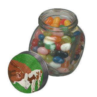 Cow Love Jelly Belly Candy Jars