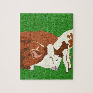 Cow Love Jigsaw Puzzle
